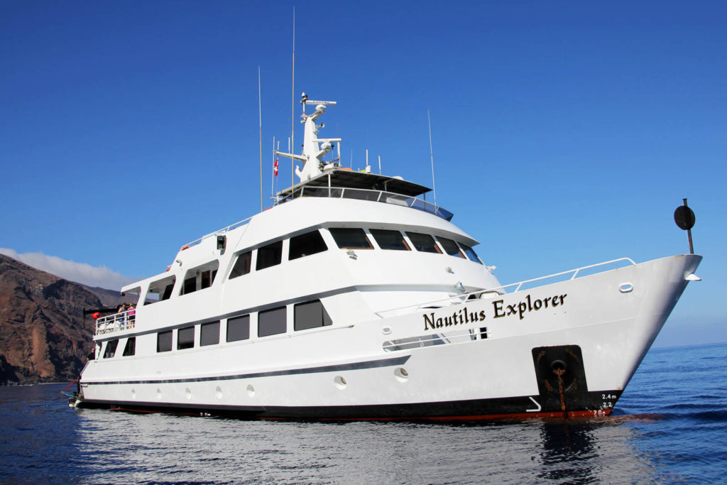 Nautilus Explorer ship with Cheesemans' Ecology Safaris